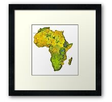 Physical African Continent Framed Print