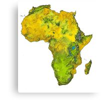 Physical African Continent Canvas Print