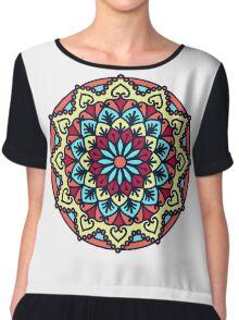 Mandala - Circle Ethnic Ornament Chiffon Top
