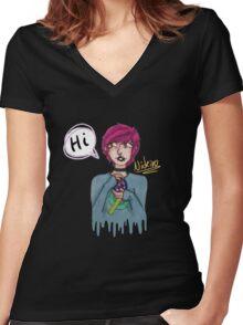 the artist Women's Fitted V-Neck T-Shirt
