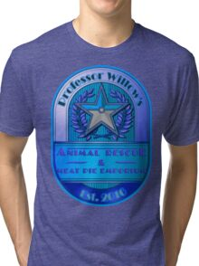 Prof. Willow's Animal Rescue & Meat Pie Emporium (Mystic) Tri-blend T-Shirt