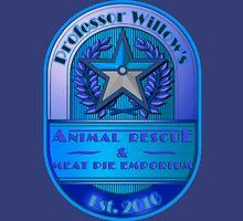 Prof. Willow's Animal Rescue & Meat Pie Emporium (Mystic) Unisex T-Shirt