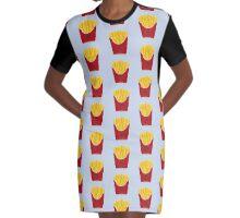 FRIES BEFORE GUYS Graphic T-Shirt Dress
