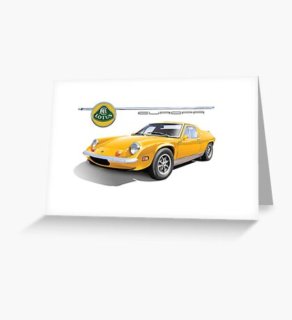 Lotus Europa Vintage British Classic Car Greeting Card