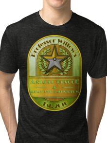Prof. Willow's Animal Rescue & Meat Pie Emporium (Instinct) Tri-blend T-Shirt