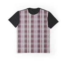 The coolest Gray and Pink Plaid Graphic T-Shirt