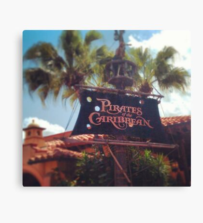 Pirates of the Caribbean  Canvas Print