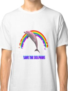 Save the Dolphins Rainbow Classic T-Shirt