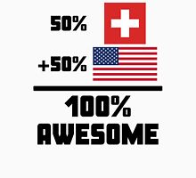 Awesome Swiss American Unisex T-Shirt