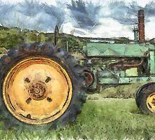 Old Tractor Pencil by Edward Fielding
