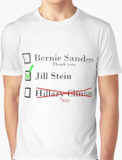 Sanders Supporters for Stein Graphic T-Shirt