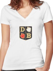 David Brown Vintage Tractors UK Women's Fitted V-Neck T-Shirt