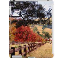 Autumn Trees down a drive way iPad Case/Skin
