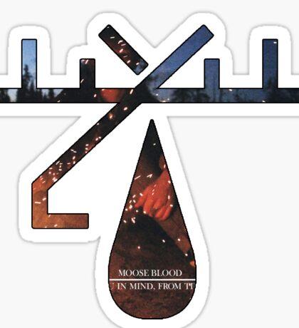 Moose Blood album art logo Sticker