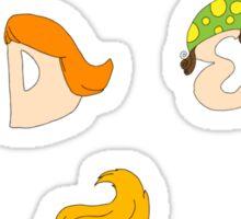 Children alphabet with hair style Sticker