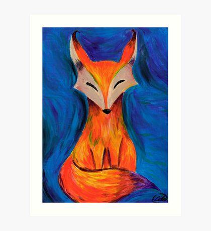The foxy fox in acrylic Art Print