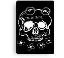 Skull for the Inner Hippe. (White) Canvas Print