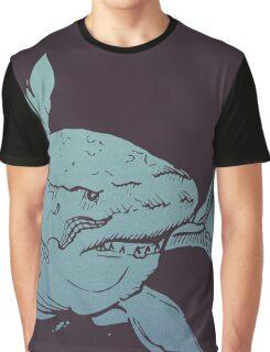 Deep Blue Shark Graphic T-Shirt