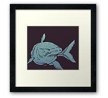 Deep Blue Shark Framed Print