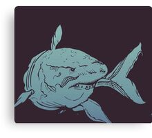 Deep Blue Shark Canvas Print