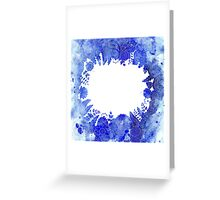 Blue Floral Pattern 04 Greeting Card