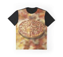 Half Pepperoni and Mushroom, Half Pepperoni with Extra Cheese Graphic T-Shirt