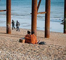 Under the pier by Liz Outhwaite
