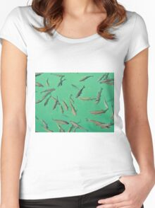 lake full of fish Women's Fitted Scoop T-Shirt
