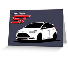 Ford Focus ST graphic Greeting Card