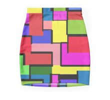 color squares Mini Skirt