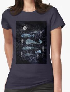 Night at the Sea  Womens Fitted T-Shirt