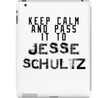 Keep Calm And Pass It To Jesse Schultz ( Sheffield Steelers ) iPad Case/Skin