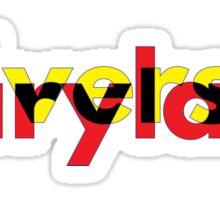 University of Maryland design  Sticker