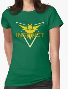 Pokemon Go: Team Instinct Simple Womens Fitted T-Shirt