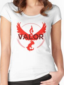 Pokemon Go: Team Valor Simple Women's Fitted Scoop T-Shirt