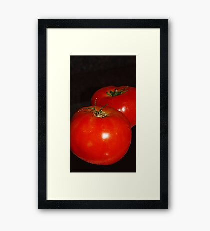Lucious Tomatoes Framed Print