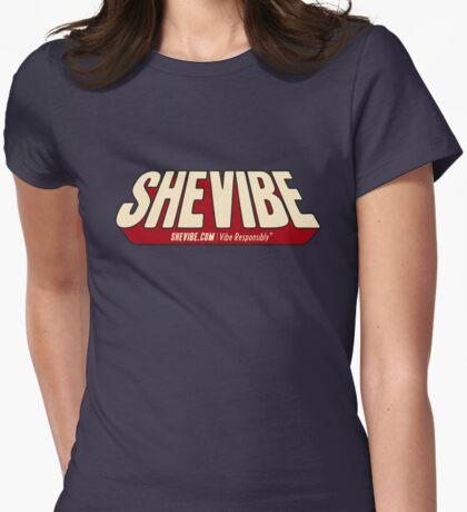 SheVibe Comic Logo Womens Fitted T-Shirt