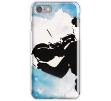 Violinist - watercolor in black and blue iPhone Case/Skin