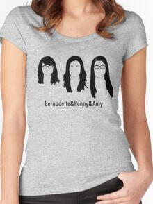 Women of Big Bang Theory Women's Fitted Scoop T-Shirt