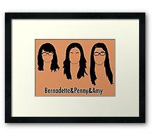 Women of Big Bang Theory Framed Print