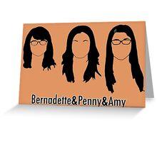 Women of Big Bang Theory Greeting Card