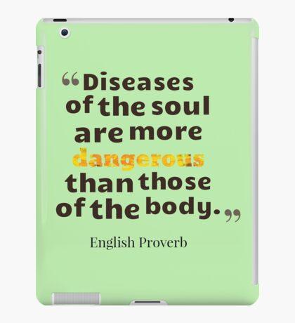 English Proverb iPad Case/Skin