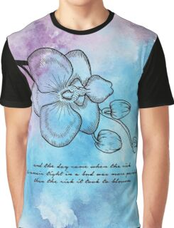 Anais Nin - Orchid Blossom Graphic T-Shirt