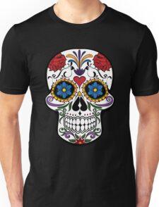Colorful Sugar Skull Unisex T-Shirt