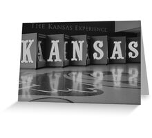 The Kansas Experience monochrome Greeting Card