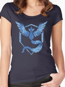 Team Mystic - Pokemon GO (Distress) Women's Fitted Scoop T-Shirt