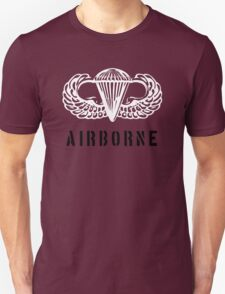 US airborne parawings white over black Unisex T-Shirt