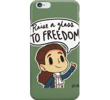 Raise a glass to FREEDOM iPhone Case/Skin