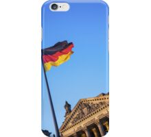 Schland Flag in front of the Reichstag building iPhone Case/Skin