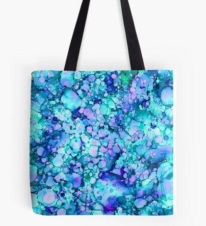 Abstract Blue Lagoon Tote Bag